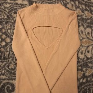 Zara High Neck Sweater with peek-a-boo cut out